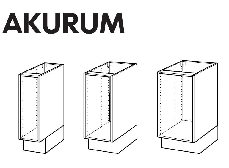 Ikea akurum base cabinet frame assembly instruction for Assembling ikea kitchen cabinets